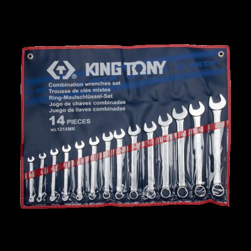 KINGTONY Csillag-villáskulcs készlet, 14 részes, 10-32mm