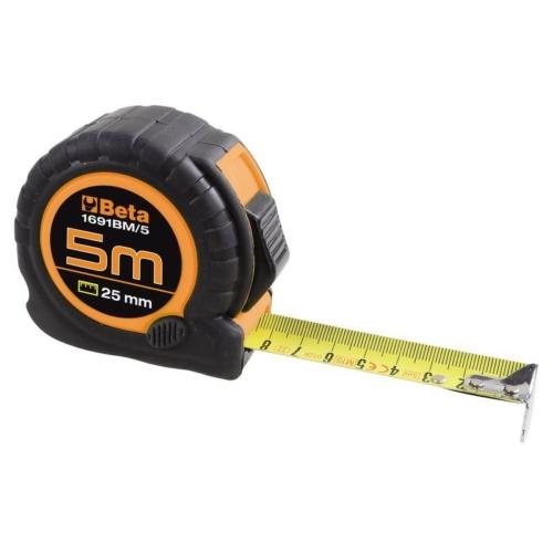 BETA 1691bm/8m mérőszalag kétkomponensű, ütésálló abs ház acélszalag ii. pontossági osztály