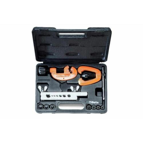 BETA 351c csővágó és peremező készlet, műanyag dobozban