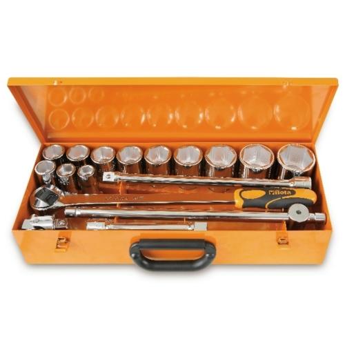 BETA 928a/c12 12 hatlapú dugókulcs és 5 tartozék, fémdobozban