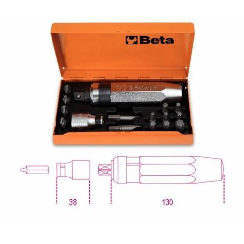 BETA 1295/C14  ütvecsavarhúzó készlet, 14 betéttel