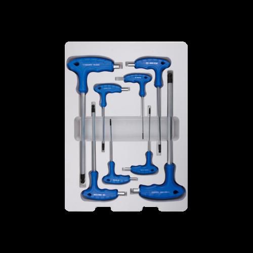 KINGTONY L gömbfejű imbuszkulcs készlet,  8 részes, 2-10mm