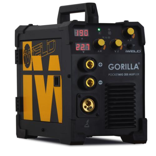 IWELD-GORILLA-POCKETMIG-205-ALUFLUX-hegesztő-inverter-80POCMIG205